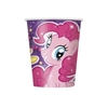 The My Little Pony Cups are a coated paper beverage cup featuring Pinkie Pie and a few of her friends. Each cup holds up to 9 ounces of your favorite hot or cold beverage. Eight cups per package.