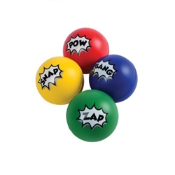 Relieve some stress and party like a real superhero with these Superhero Stress Balls. The foam balls come in four different colors and they can be used to relieve stress, play games or keep someone occupied! They even make great party favors!