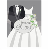 Silver Wedding Invitations (8/pkg)