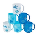 Plastic Snowflake Mug (Assorted Colors)
