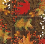 These vibrantly colored and gorgeously printed Rustic Autumn Leaves Beverage Napkins feature a traditional and unique, fall design that will make the food taste that much better.