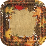 Our Rustic Autumn Leaves Dinner Plates are perfect for your fall party decor. These disposable plates feature beautiful, high quality construction featuring a fall color palette. They measures 8 3/4 inches with eight (8) per package