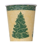 Enjoy your favorite hot or cold beverage from our Elegant Christmas Cups. The cups feature a tan field with elegant green trim & three delightful Christmas trees. The cups hold up to nine ounces of liquid and come eight to a pack.