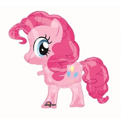 "This 29"" My Little Pony Balloon Buddy is designed to float along behind your child as they take their magical pony friend for a walk. Don't worry, Pinkie Pie is easily held in check by the attached ribbon and handle. Comes un-inflated. One per package."