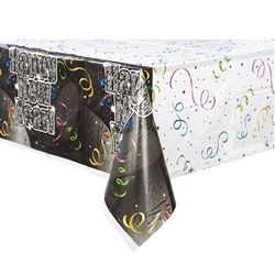 "This colorful Countdown to New Year's Plastic Tablecover screams ""Happy New Year"" and it will perfectly complement all of your other New Year's decorations. It measures 54 inches by 84 inches and comes one awesome tablecover per package."