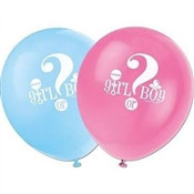 Gender Reveal Latex Balloons (8/pkg)