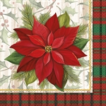 Poinsettia and plaid pair together for one of the most elegant combinations this holiday season. These Poinsettia Plaid Luncheon Napkins feature a red and green plaid border that accentuates the beauty of the poinsettia. Comes 16 napkins per package.