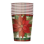 Enjoy your favorite winter drink in one of our Poinsettia Plaid Cups. Whether it's warm or cold, this cup is the one for you. The design is elegant, and we know you'll love the plaid and poinsettia combination. Comes eight cups per package.