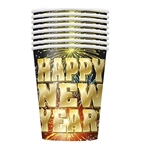 Wow! These Fireworks New Year Cups are vibrant and a lot of fun! They hold up to nine ounces of hot or cold liquid, so whether you want a hot buttered rum or some spiked iced punch, this cup will be ready. Comes eight cups per package.