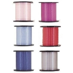 The Curling Ribbon - Choose Color is a versatile craft item, perfect for gift wrapping or attaching to balloons. Each spool contains 500 yards of 3/16 crimped ribbon. Choose your color!