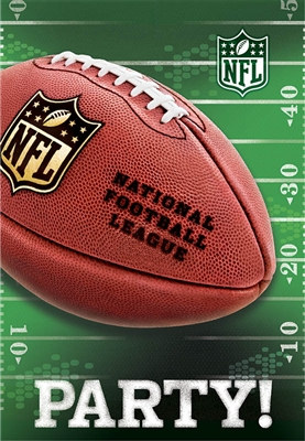 NFL Drive Invitation and Thank You Set