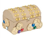 Cardboard Treasure Chest Craft Kit