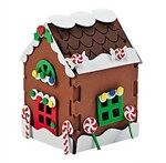 Foam 3-D Gingerbread House Craft Kit (12/pkg)