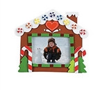 Foam Gingerbread House Photo Frame Magnet Craft Kit