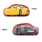 This Cars 3 Character Balloon features Jackson Storm on one side and Cruz Ramirez on the reverse. Inflate with helium, and this large 35-inch balloon will grab the attention of all of your Cars 3 party guests! One balloon per package. Ships uninflated.