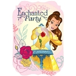 The Beauty and the Beast Invitations will alert guests of a very special event for your little princess. Space to notate the event date, time, and location along with a printed image of Belle and her roses. Complete set of 8 invitations and envelopes.