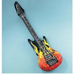 Inflatable Guitar with Flames - 40 Inch