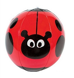 Inflatable Ladybug Beach Ball (1/pkg)