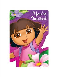 Dora Party Invitations (8/pkg)