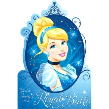 Cinderella Invitations (8/pkg)