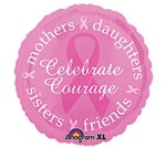 Pink Ribbon Mylar Balloon