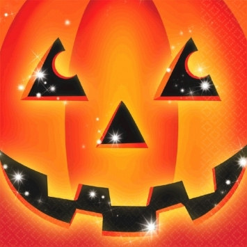 Halloween Pumpkin Lunch Napkins (16/pkg)