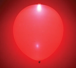 Glow Red Latex Balloon
