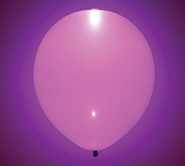 Glow Pink Latex Balloon