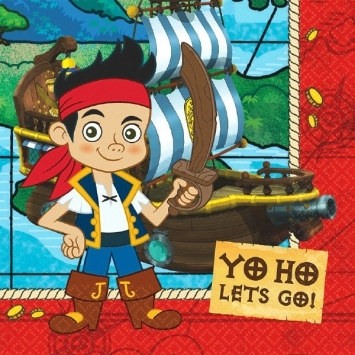 Jake and the Neverland Pirates Lunch Napkins (16/pkg)