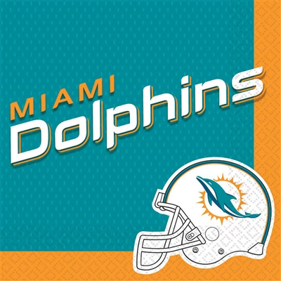 Miami Dolphins Lunch Napkins (16/pkg)