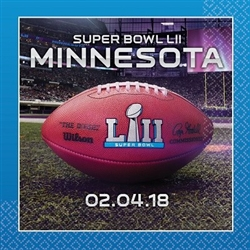 The Super Bowl 52 Luncheon Napkins are made of two ply paper and measure 12 7/8 inches by 12 7/8 inches. Contains 16 napkins per package.