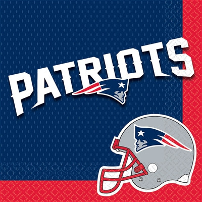 New England Patriots Napkins (16/pkg)