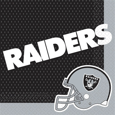 Oakland Raiders Lunch Napkins (16/pkg)