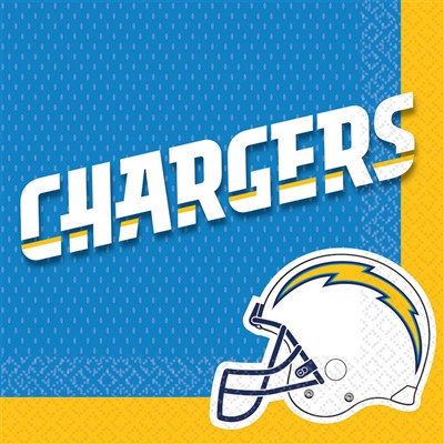 San Diego Chargers Lunch Napkins (16/pkg)