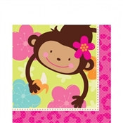 Monkey Love Lunch Napkins (16/pkg)