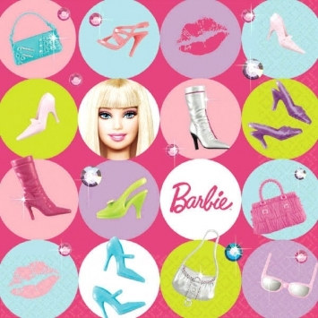 Barbie Lunch Napkins (16/pkg)