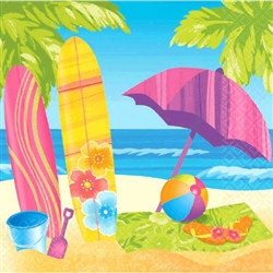 Surf's Up Luncheon Napkins (16 per package)