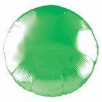 Green Metallic Mylar Round Balloon