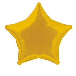 "This Gold Star Foil Balloon 20"" is the perfect Hollywood or Awards Night party accessory. Adds a pop of gold color to proms, dances, and other school events.  One star shaped foil balloon per package."