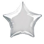 "This Silver Star Foil Balloon 20"" adds a shimmer of color to any special event. Fill with helium. Measures approximately 20 inches in diameter when fully inflated.  One balloon per package."