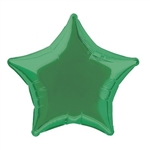 "The Green Foil Star Balloon 20"" is made of foil and measures approximately 20 inches when fully inflated. Green on both sides. One balloon per package. Fill with helium"