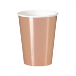 The Rose Gold Cups are perfect for any theme party you have. They have a beautiful metallic finish and are made of coated paper. They can hold 12 ounces of either hot or cold liquids. Contains 8 per package. Do not microwave