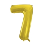 "The 34"" Gold Foil Balloon Number 7 will add a stylish focal point to your event's party decor. Whether celebrating a birthday or anniversary, you can combine the balloon with other balloon numbers to create the digits you need. One per package"