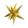 "This Gold Jumbo 39"" Star Burst Balloon will make a dazzling addition to any party theme. Inflate with air, and follow the included instructions to assemble this stunning metallic gold multi-point star balloon. Also available in silver!"