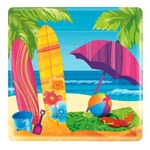 Surf's Up Square Dessert Plates (8 per package)