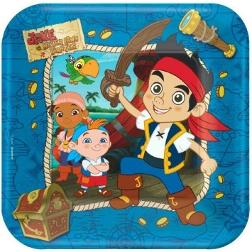 Jake and the Neverland Pirates Lunch Plates (8/pkg)
