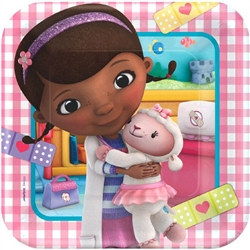 Doc McStuffins Square Plates 9 inches