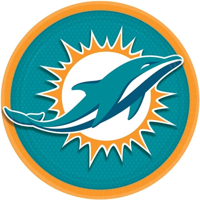 Miami Dolphins Lunch Plates (8/pkg)