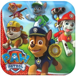 Paw Patrol Square Plates 9 inches