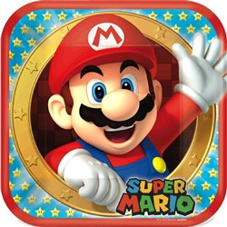 Super Mario Brothers Square Plates 9 inches